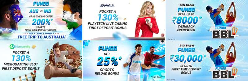 Great Promotions and Rewards from Fun88Asia