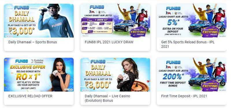 New List of Promotions from Fun88 India