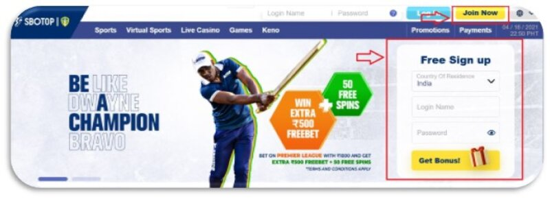 How to Register Sbotop - Your First Choice for Online Entertainment