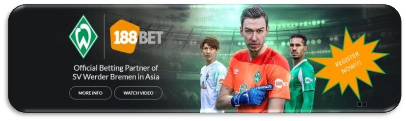 Register to 188Bet Today - Your Gambling Partner