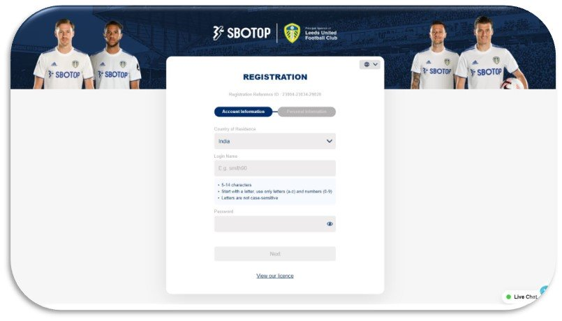 Simple Steps to Register to Sbotop India - Second Step