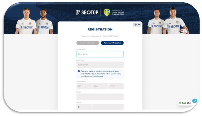 Simple Steps to Register to Sbotop India - Third Step