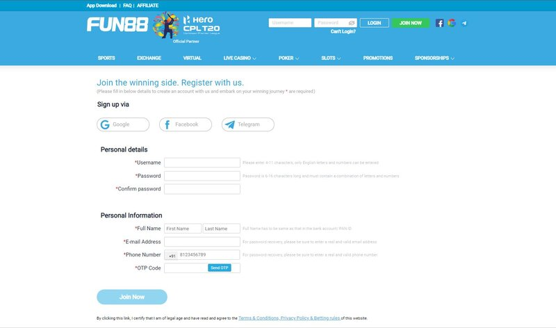 Steps on How to Register Fun88 in Less Than 5 Minutes