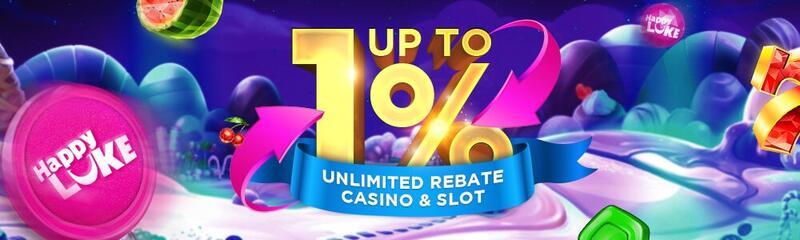 Unlimited Bonuses with Happyluke Promotions - Rebate