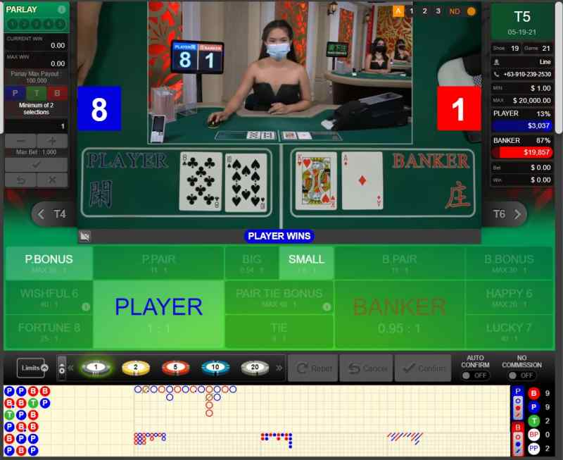 All-Time Favorite Casino Game - Baccarat 188Bet - Grand Suite
