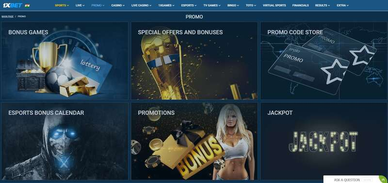 Best Collection of Promotions from 1xBet Online
