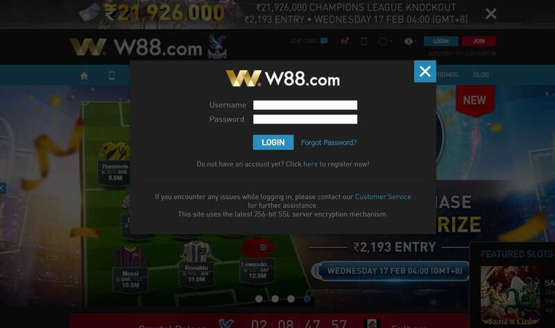 W88Login Straight To Your Browser