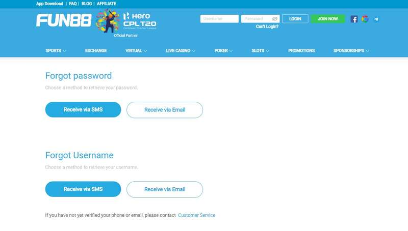 Find the Updated and Trusted Link Fun88 Login - Forgot Password