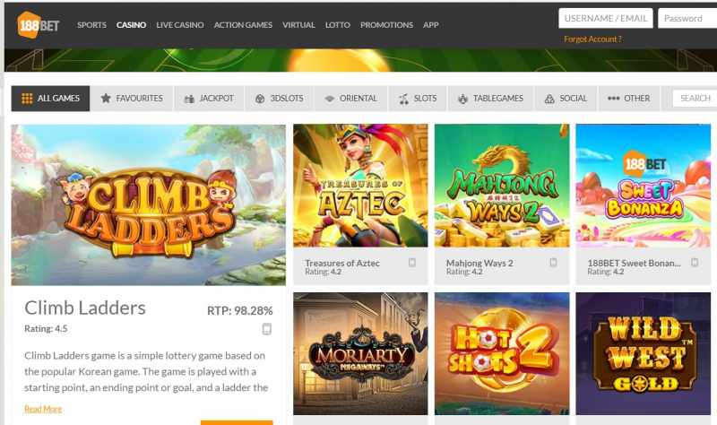 Gigantic Collection of Games Only at 188Bet Club.com - Games
